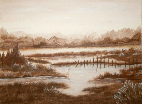 Sepia Marsh Scene - P1012009